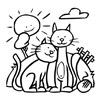 omalovánky 2 kočky pod sluncem