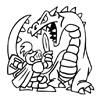omalovánky - rytiř a drak