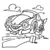omalovánky - auto na silnici