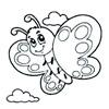 omalovánky - motýlek