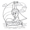 omalovánky - námořník